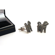 Cockapoo Dog Pewter Cufflinks Christmas Gift