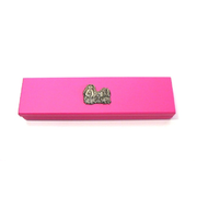 Pink Wooden Pen Box with Pens