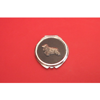 Cocker Spaniel on Black Round Compact Mirror