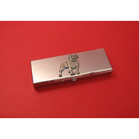 Rottweiler Pewter Motif on Seven Day Pill Box Gift
