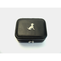 Jack Russell Design Small Black Travel Jewellery Box Gift