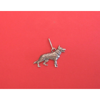 German Shepherd Dog Zipper Pull Pewter Pet Gift