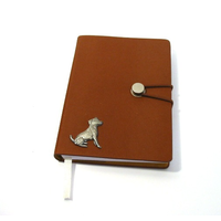 Jack Russell A6 Tan Journal Notebook Dog Gift