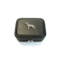 Golden Retriever Design Small Black Travel Jewellery Box
