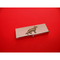 German Shepard Pewter Motif on Seven Day Pill Box Gift