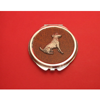 Jack Russell on Brown Round Compact Mirror Useful Gift