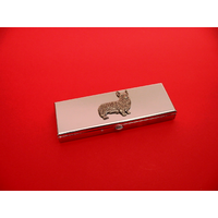 Corgi Dog Pewter Motif on Seven Day Pill Box Gift