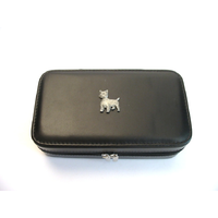 West Highland Terrier Design Large Black Travel Jewellery Box