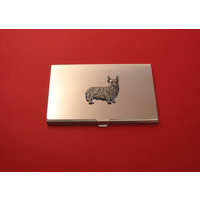 Corgi Dog Chrome Plated Business or Credit Card Holder