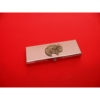 Pomeranian Pewter Motif on Seven Day Pill Box Gift