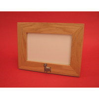 "West Highland Terrier Real Oak Landscape 4"" x 6"" Photo Frame"