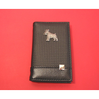 Schnauzer on Faux Carbon Fibre Black Note book & Pen