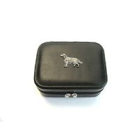 Irish Setter Design Small Black Travel Jewellery Box Gift