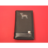 Border Terrier on Faux Carbon Fibre Black Note book & Pen