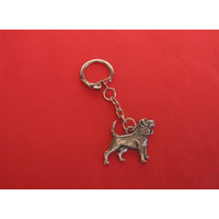Beagle Keyring Pewter Pet Mum Dad Gift