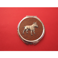 English Bull Terrier Brown Round Compact Mirror Useful Gift