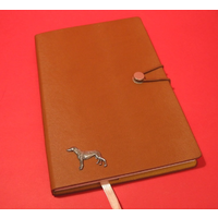 Greyhound A5 Tan Journal Notebook Dog Gift