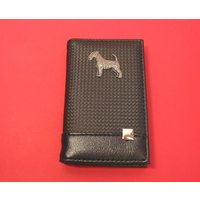 Airedale Terrier on Faux Carbon Fibre Black Note book & Pen