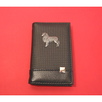 Australian Shepherd on Faux Carbon Fibre Black Note book & Pen