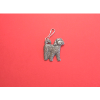 Cockapoo Dog Zipper Pull Pewter Pet Gift