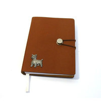 West Highland Terrier A6 Tan Journal Notebook Dog Gift