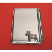 Miniature Schnauzer Chrome Notebook & Pen