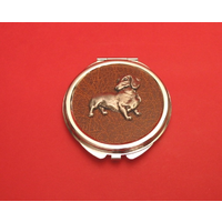 Dachshund on Brown Round Compact Mirror Useful Gift