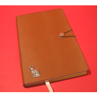 Short Haired Cat A5 Tan Journal Notebook Dog Gift