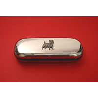 Cairn Terrier Motif Chrome Glasses Case Useful Christmas Gif