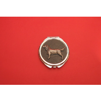 Springer Spaniel on Black Round Compact Mirror Useful Gift