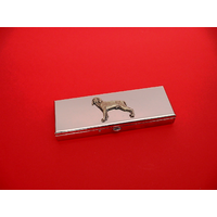 Weimaraner Pewter Motif on Seven Day Pill Box Gift