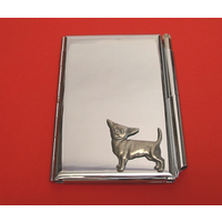 Chihuahua Chrome Notebook & Pen Card holder