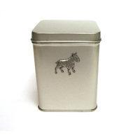 English Bull Terrier Design Motif Tin Tea Caddy Mother Xmas Gift