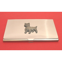 West Highland Terrier Chrome Plated Business /Credit Card Holder