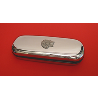 Long Haired Cat Motif Chrome Glasses Case Useful Xmas Gift