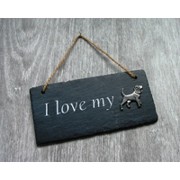 Beagle Dog Design Slate Plaque Valentine Christmas Gift
