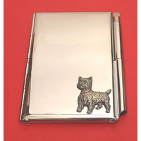 West Highland Terrier Chrome Notebook & Pen
