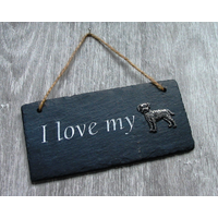 Border Terrier Design Slate Plaque Valentine Christmas Gift
