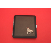 Staffordshire Bull Terrier Motif on Black Faux Leather Cigarette