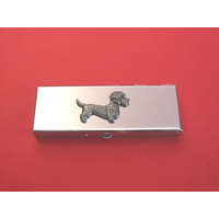Dandie Dinmont Pewter Motif on Seven Day Pill Box Gift