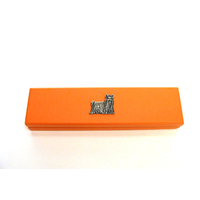 Yorkshire Terrier Motif on Apricot Wooden Pen Box with 2 Pen