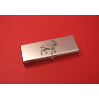 English Bull Terrier Pewter Motif on Seven Day Pill Box Gift