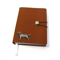 Springer Spaniel A6 Tan Journal Notebook Dog Gift