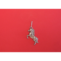 Rearing Pony Zipper Pull Pewter Pet Gift