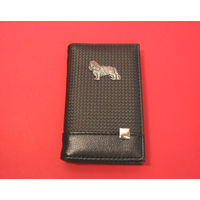 King Charles on Faux Carbon Fibre Black Note book & Pen