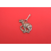 Dinosaur Zipper Pull Pewter Pet Gift