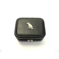Labrador Retriever Design Small Black Travel Jewellery Box Gift