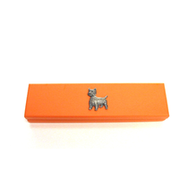 West Highland Terrier on Apricot Wooden Pen Box with 2 Pens
