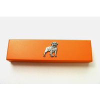 Rottweiler Motif on Apricot Wooden Pen Box with 2 Pens
