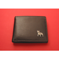 Staffordshire Bull Terrier Design Real Leather Dark Brown Wallet